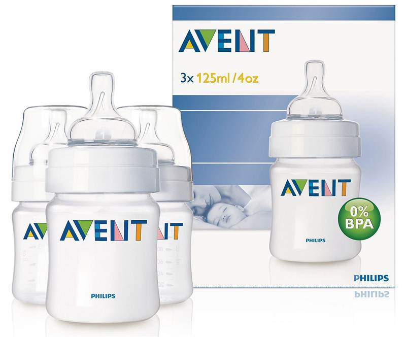 AVENT PP 125ml 3 Feeding Bottles (SCF680/37)