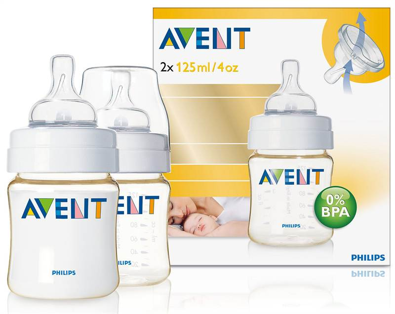 AVENT PES 125ml 2 Feeding Bottle (SCF660/27)