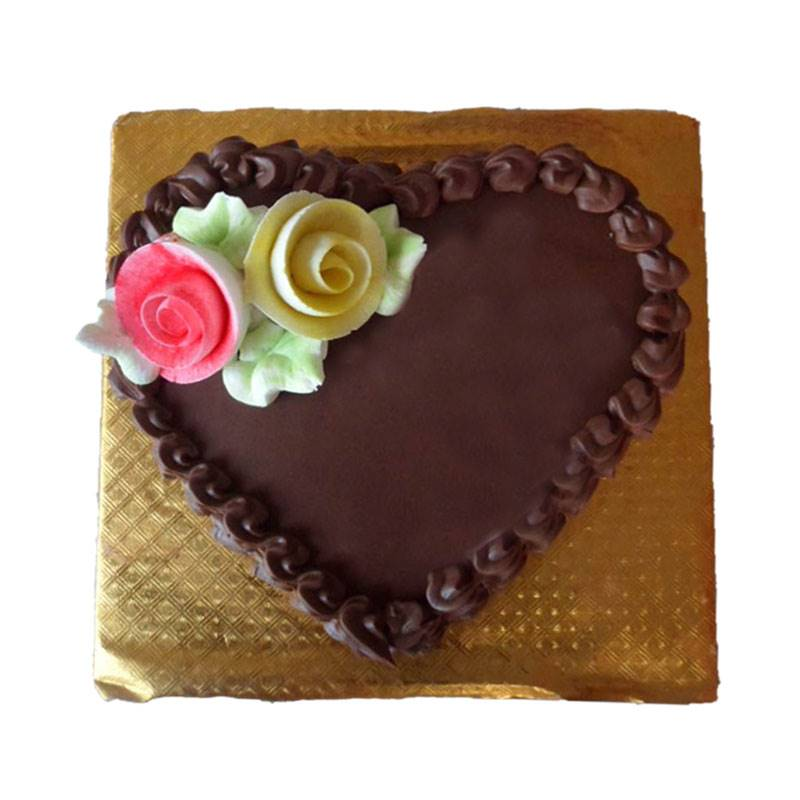 Heart Shape Chocolate Cake (1 Kg) from Paudel Bakery (CKHTD002)