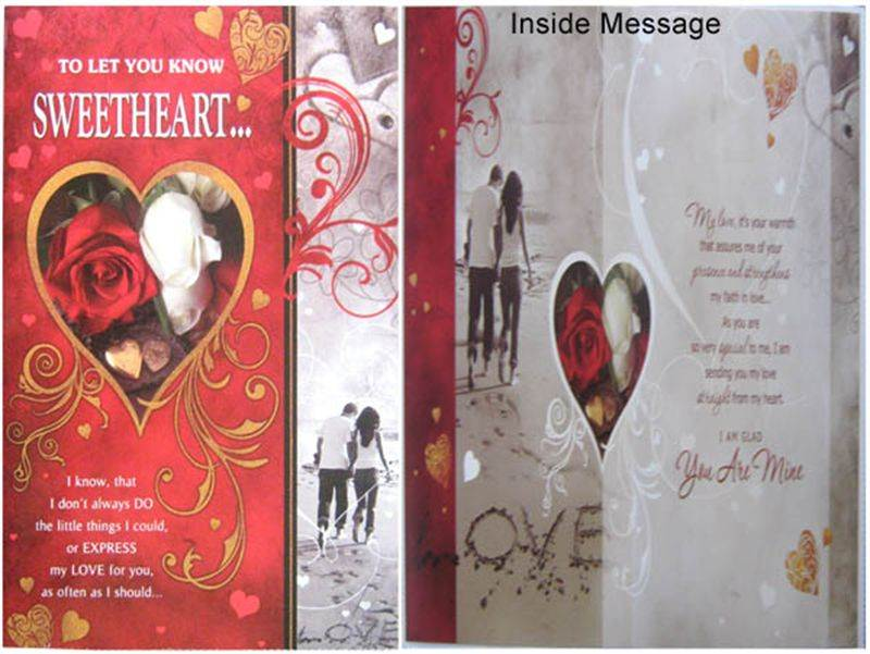To Let You Know Sweetheart Card (rv000123) (GCPKR012)