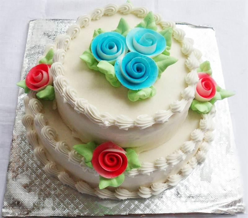 Snow Flower Cake 3 Pound  (CKHTD009)