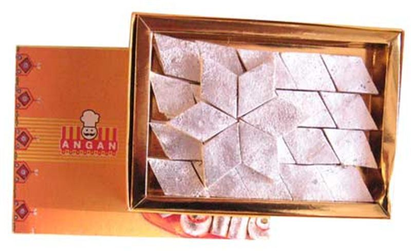Kaju Barfi (1 Kg) from Angan (ANPKR008)