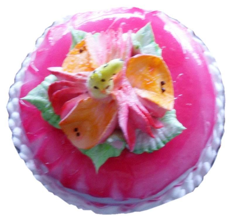 Glaze Cotted Fresh Fruit Cake (1 Kg) from Paudel Bakery (CKHTD013)