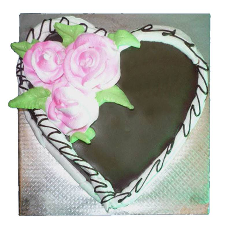Heart Shaped Chocolate Cake (1 Kg) from Hamro Bakery (CHT002)