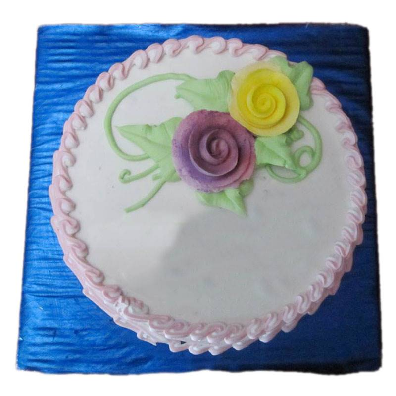 Rose Vanilla Cake (1 Kg) from Hamro Bakery (CHT003)