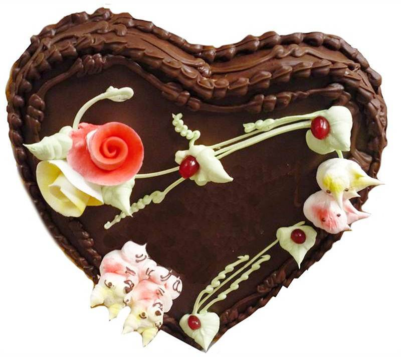 Heart Shaped Chocolate Cake (1.5 Kg) from Hamro Bakery (CHT008)