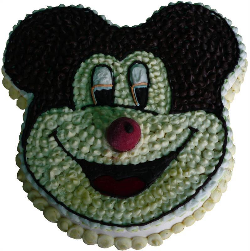 Mickey Mouse Vanilla and Chocolate Cream Cake (1.5 Kg) from Hamro Bakery (CHT014)