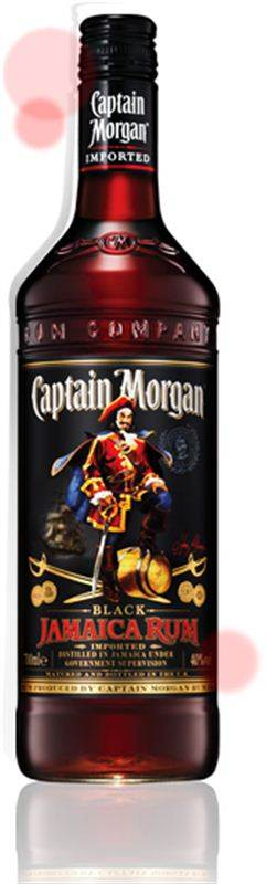 Captain Morgan Black Jamaica Rum (1L) (CHT038)