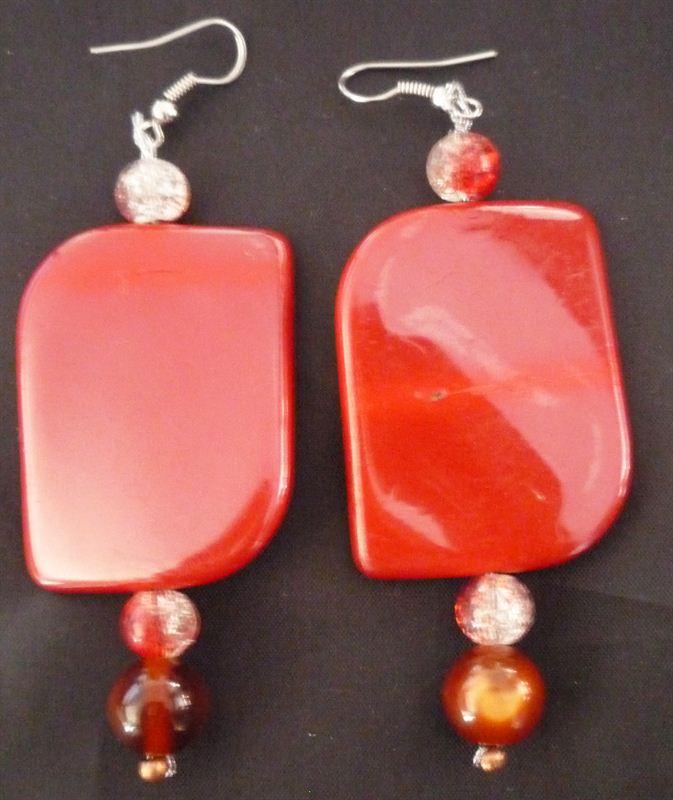 Fancy Red Earring