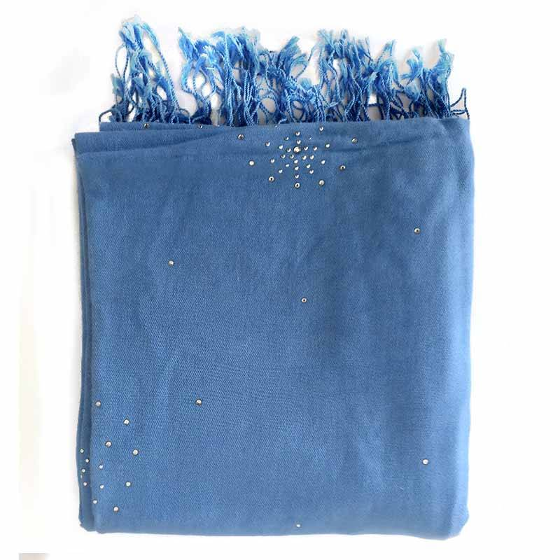 Blue Silk Pashmina