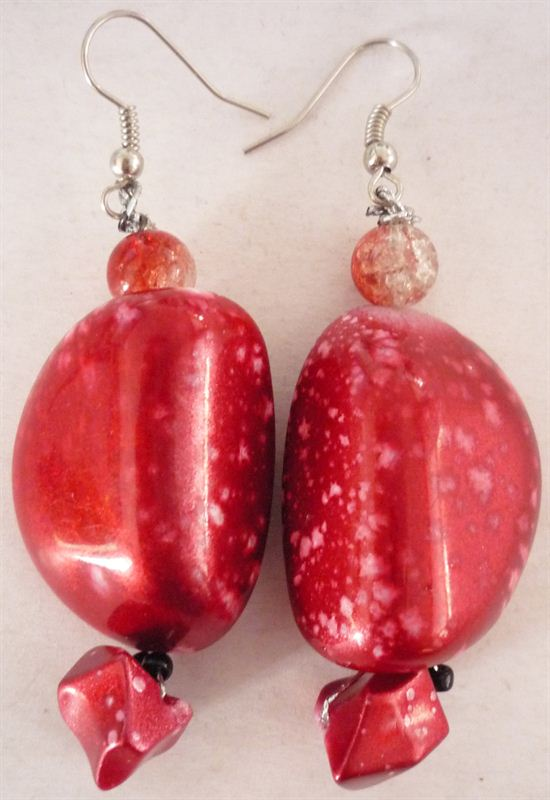 Red Stone Style Earring
