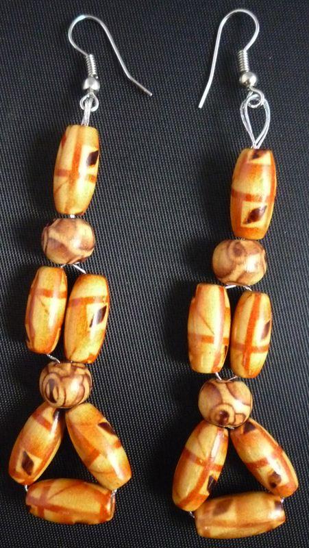 Wooden Beads Earring