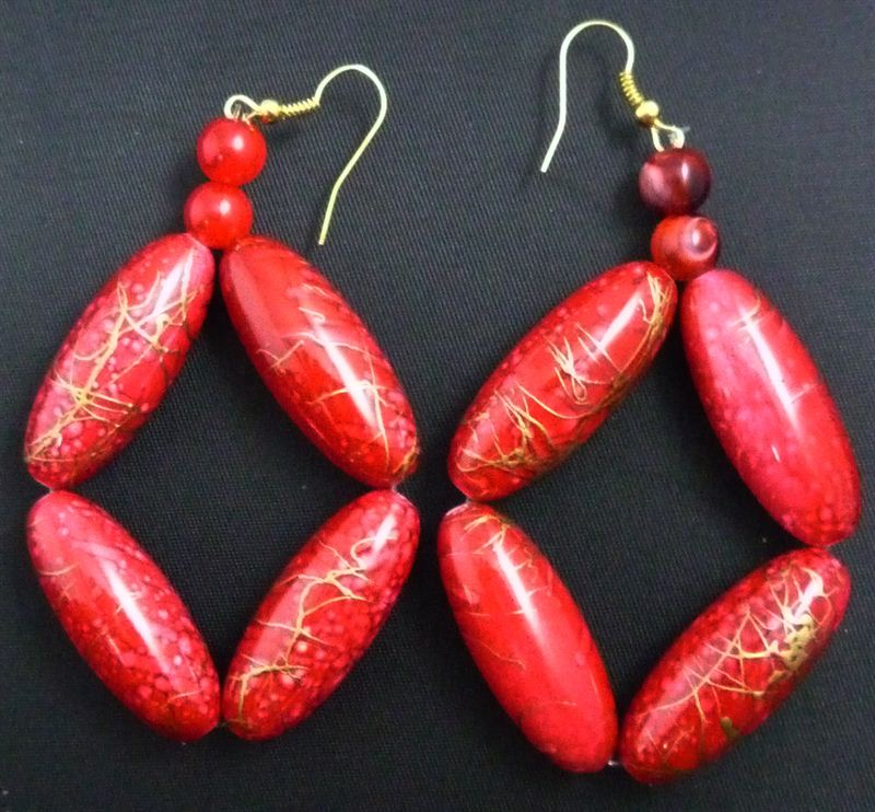 Unique Red Earring