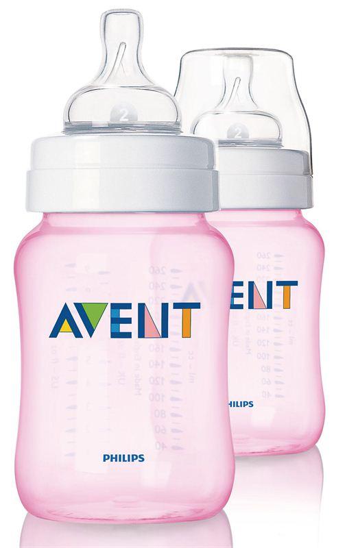 Philips Avent PP 2 Feeding Bottle (SCF684/27) (Pink) (260 ml)