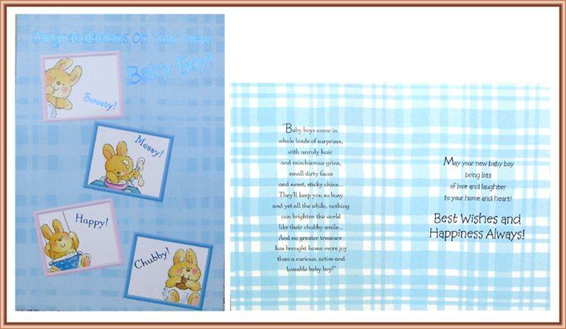 Card For New Baby Boy (MICDRN034)