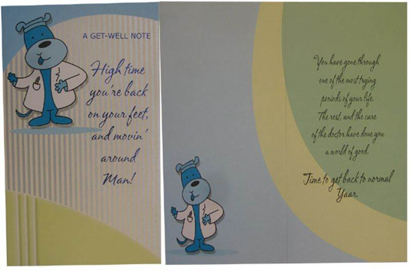 Get Well Soon Card (MICDRN038)