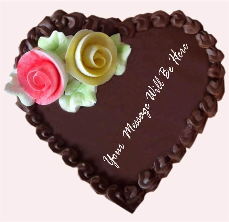Heart Shape Chocolate Covering Cake (1 Kg) from Little Hunger Bakery (CKNPJ006)