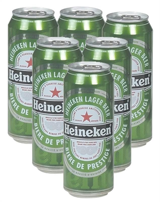 Heineken Can Beer (6x500ml)