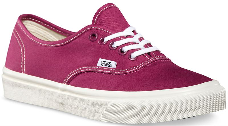 51a9fd463af4 Vans Authentic Slim Twill Red Plum Shoe (901180) - Send Gifts and ...