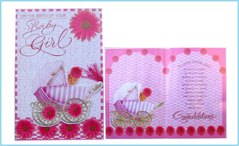 Card for New Baby Girl (rd200020)