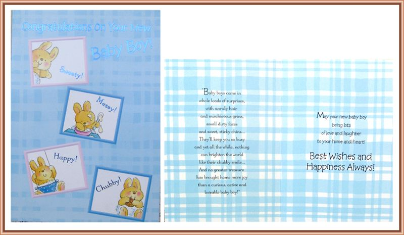 Card For New Baby Boy (rd200022)