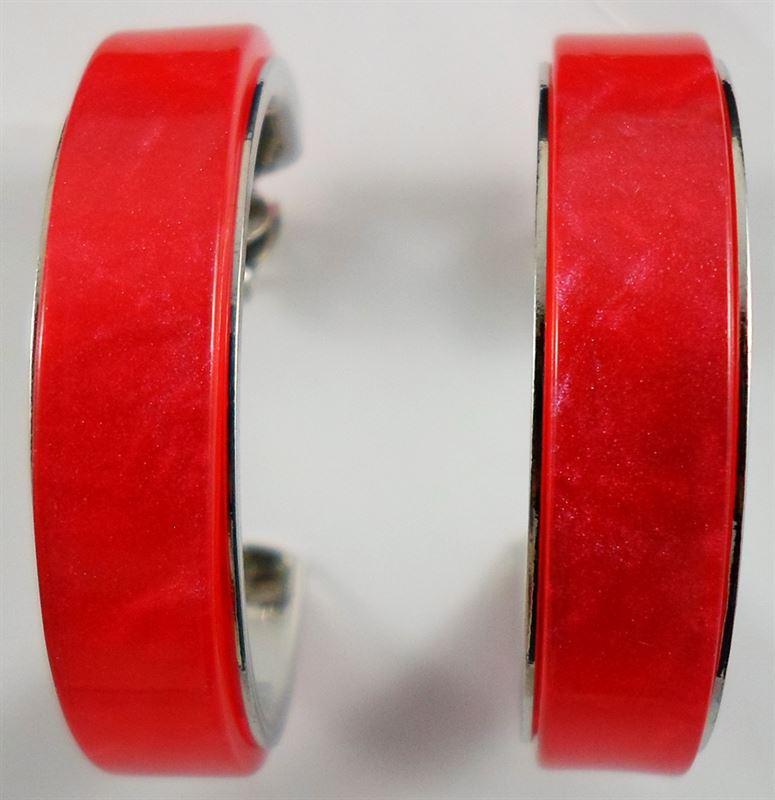 Korean Red Round Hoop Earring (65)