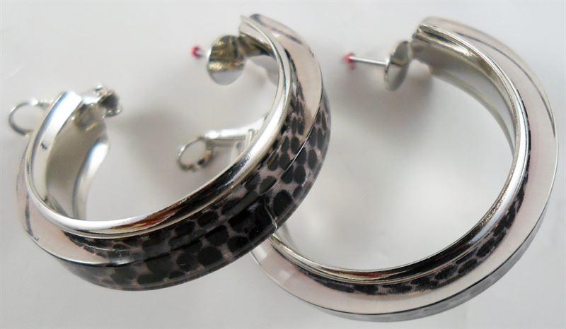 Korean Animal Printed Round Hoop Earring (66)
