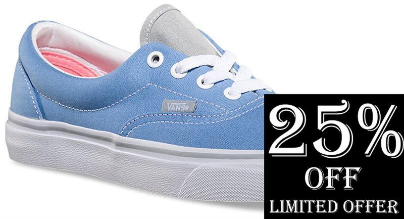 Vans Era 2 Tone Silverlake Blue High Rise Shoe (901303) - Send ... 5c4643538848