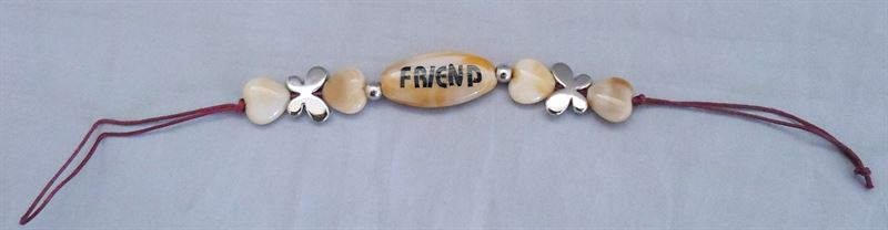 Brown Stone Friendship Band