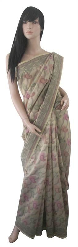 Chanderi Hand Weaved Cotton Saree (MINT0081)