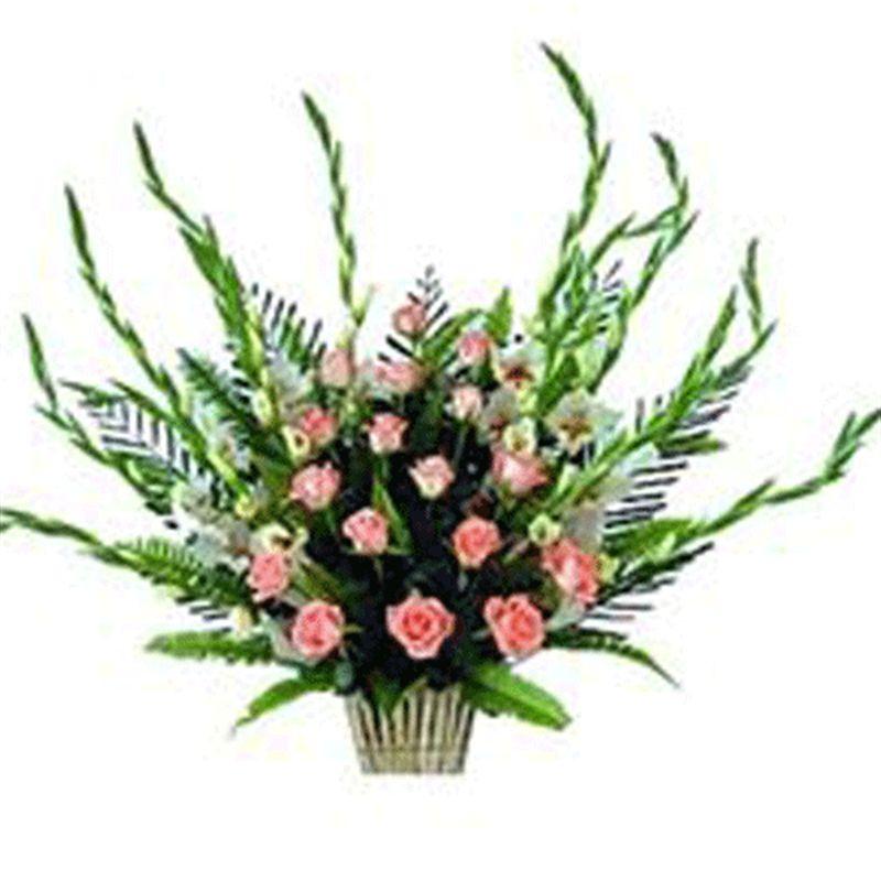Dutch Roses and Gladioli by Bodhi Brikshya