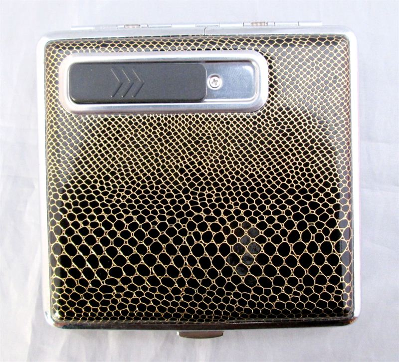 Hono Xuan USB Charging Type Lighter With Cigarette Case  (20199E)