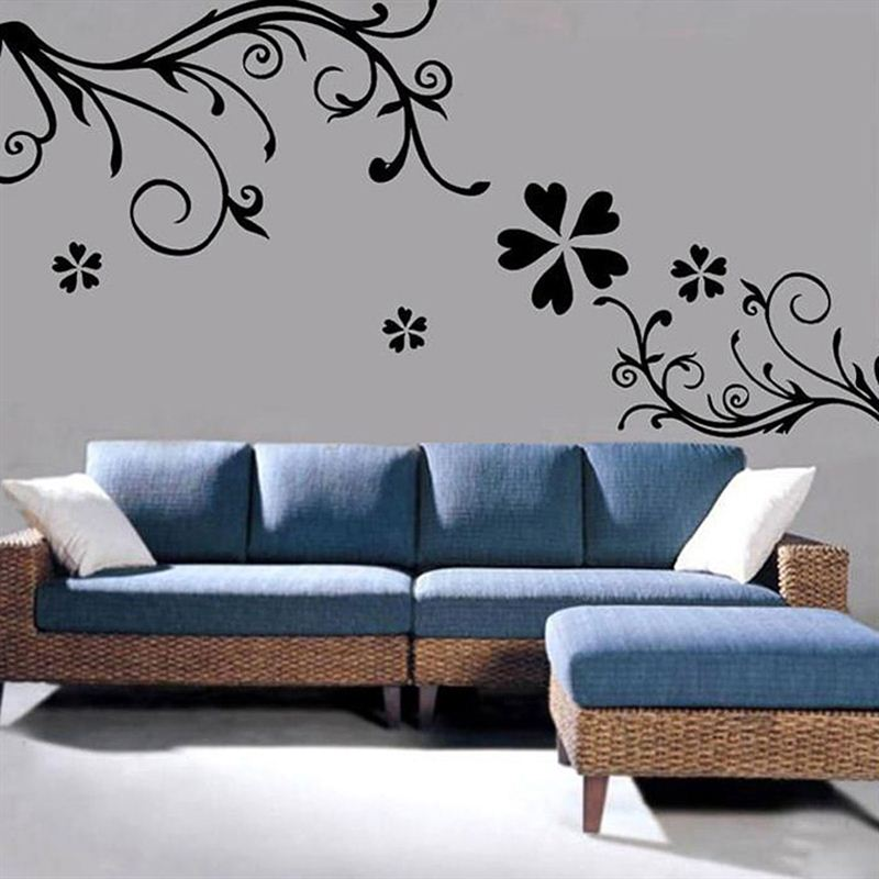 floral vine wall stickers - send gifts and money to nepal online