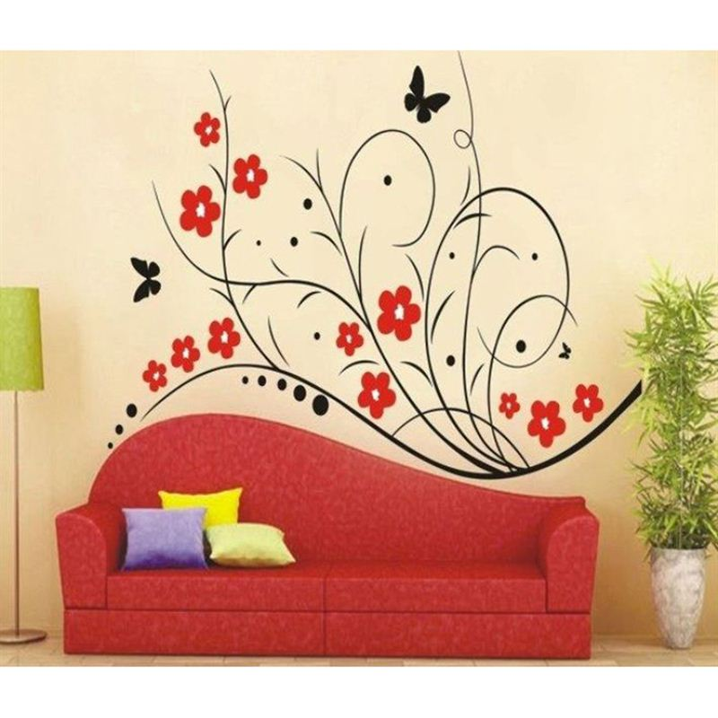 branch with flowers wall stickers - send gifts and money to nepal