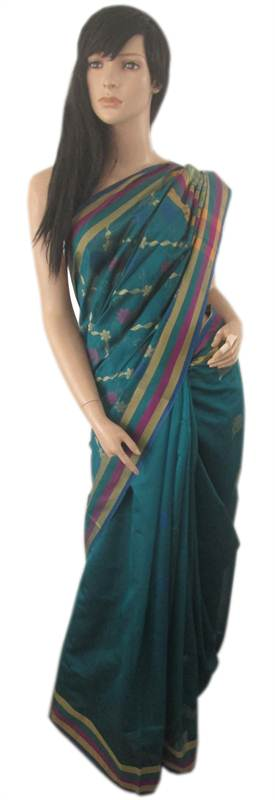 Handloomed Cotton Sari (EEE) (SARI0052)