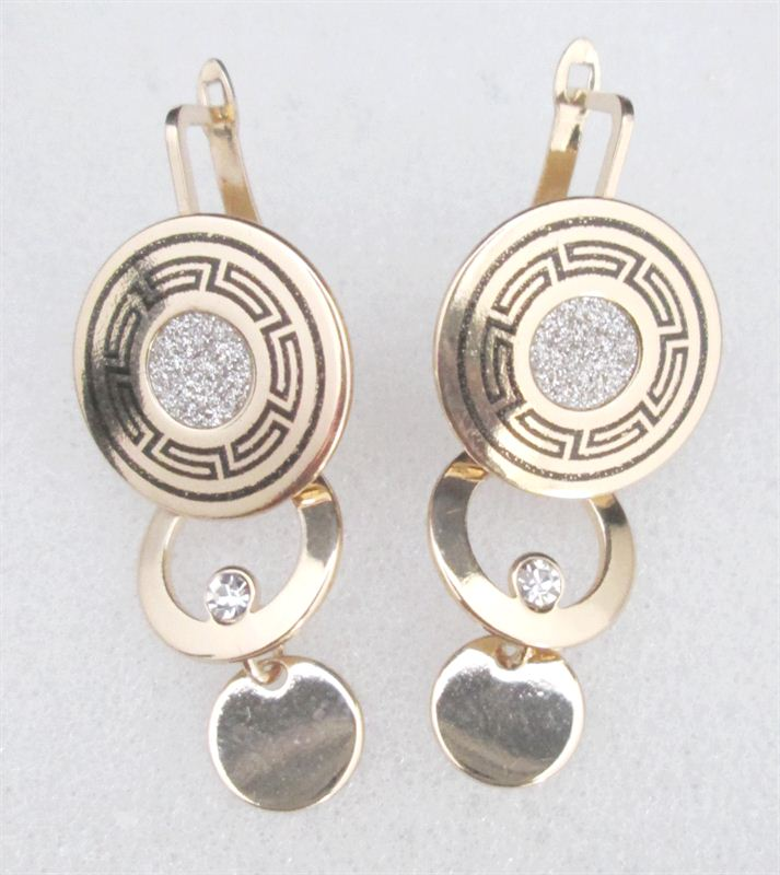 3 Layer Golden And Silver Earrings(FERG020)