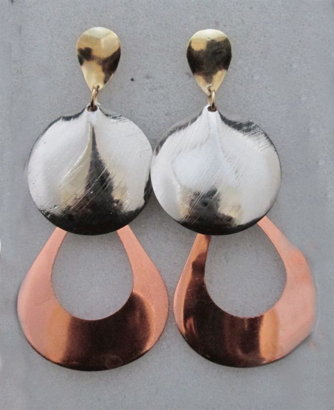 2 Layers Round Shaped  Earring (FERG034)