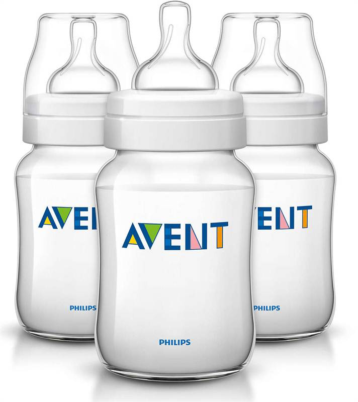 Philips Avent PP 260ml 3 Feeding Bottles (SCF683/37)