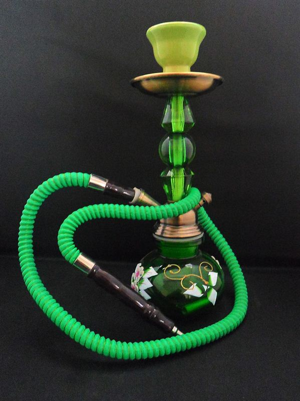 Green Floral Design Hookah (4incx12inc) (75A)