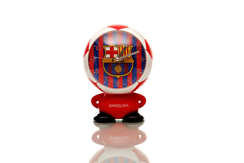 Barcelona FC Humannoid Table Clock (64F) (5x6 Inc)