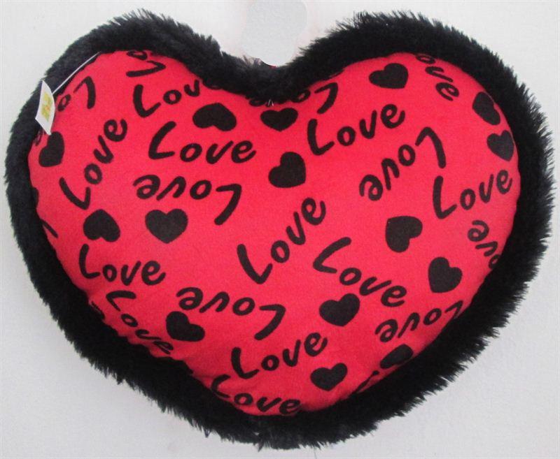 Red Love Print Cushion (20741) (15x11 Inc)