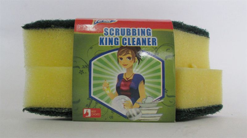 Parade Cleaning Sponge With Green Pad 2 Pcs (415026)