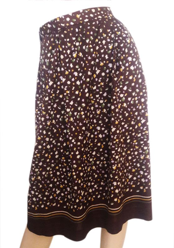 Brown Printed Skirt (CR0715-SK041)