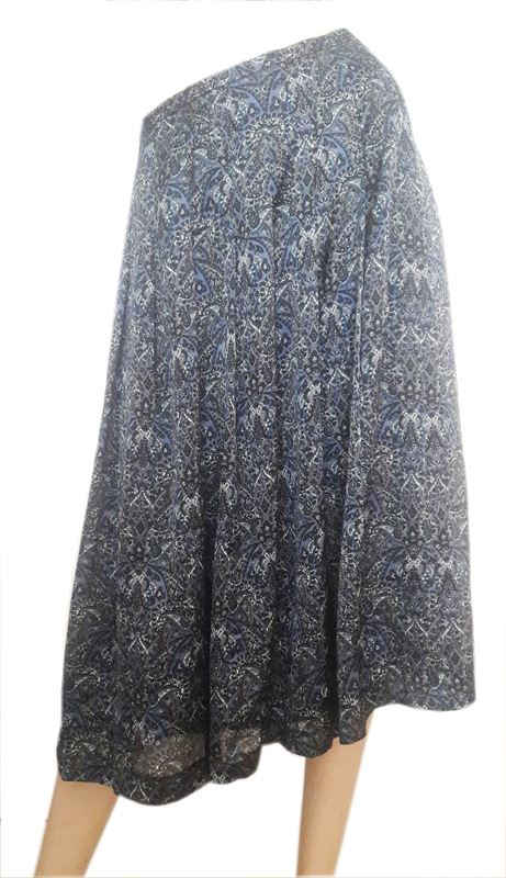 Blue Colored Printed Skirt (CR0715-SK027)