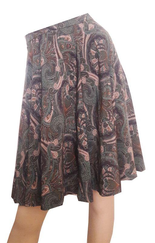 Multicolored Flared Skirt (CR0715-SK031)