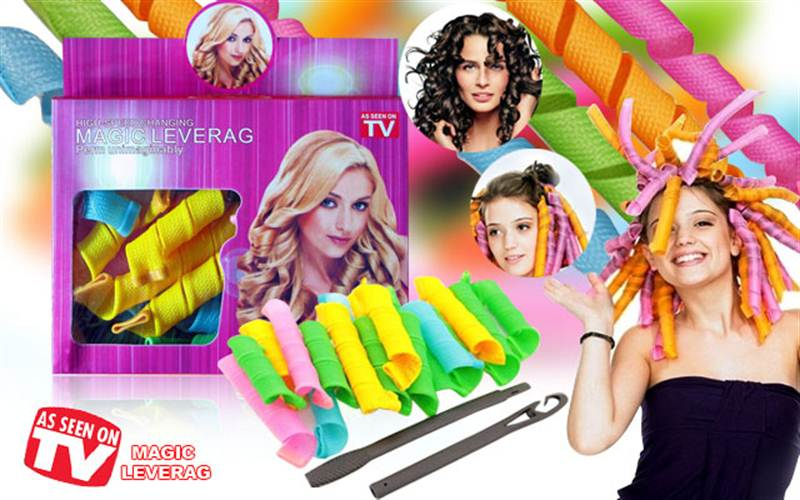 As Seen On Tv Magic Leverag 18 Piece Hair Curler Set