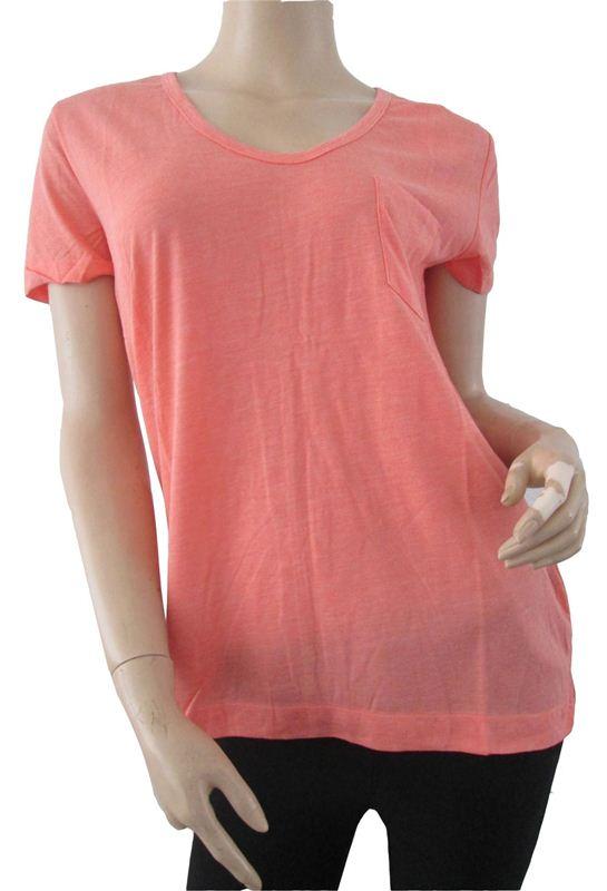 Plain Light Orange Tshirt(088)