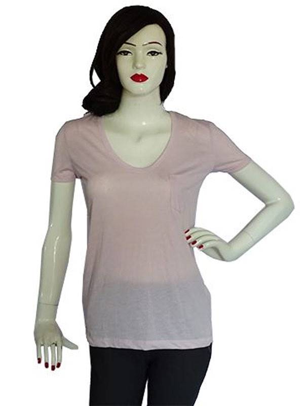 Plain Light Pink Tee(088-L.Pink)