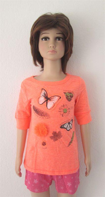 OSHKOSH (Butterfly printed) Orange (047-Orange) (3T)