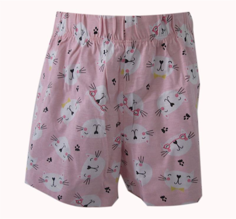 Emerson Light Pink Cat printed Shorts  (12 yrs)(073)